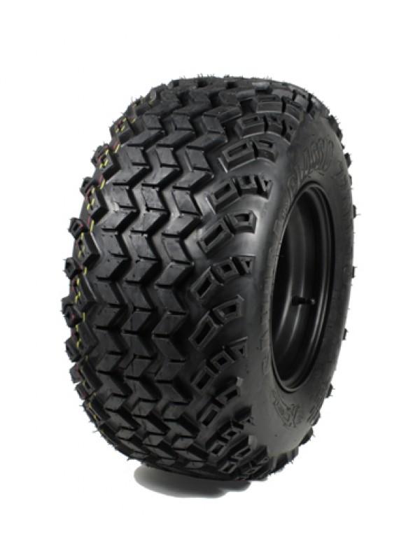 All Terrain Sahara classic tire 22x11-10, 4-PLY op zwarte stalen 3+5 offset velgen