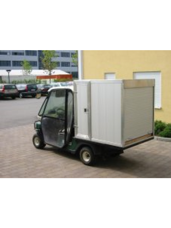 ezgo met cargo box en cabine