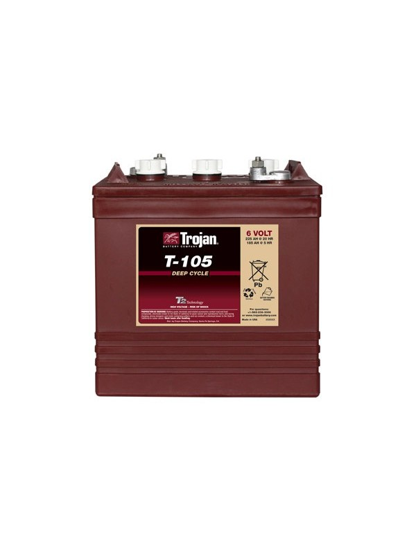 Trojan T105 tractie accu 6 volt