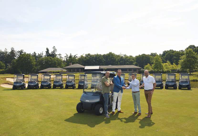 golfkar met lithium accu